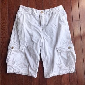 Lucky Brand boys white cargo shorts